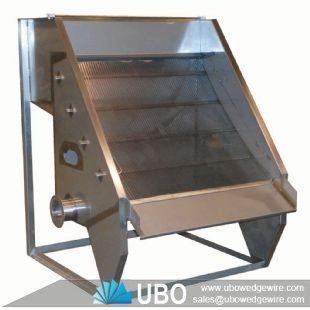 Mineral processing wedge wire welded sieve bend screen