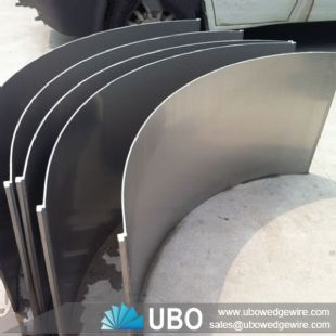 SS wedge wire slot wire dewatering curved sieve bend screen panel