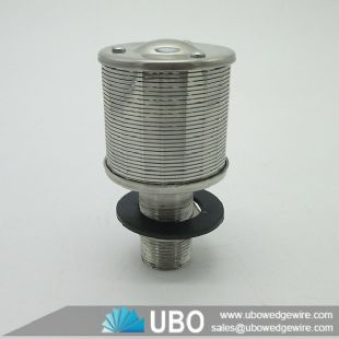 ss wedge wire wrapped johnson screen filter nozzle for water treatment