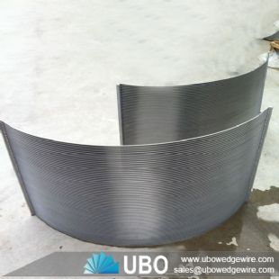 Looped wire sieve bend screen panel for food processing