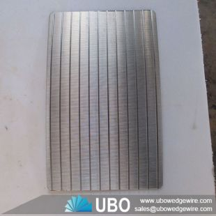 Wedge wire curved sieve bend screen panel for food processing