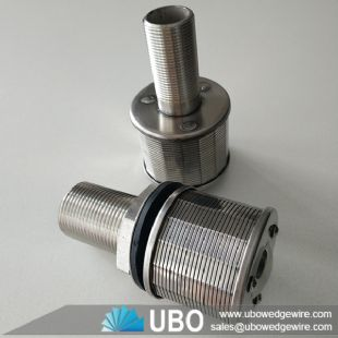 NPT thread water treatment Johnson type wedge wire filter nozzle strainer