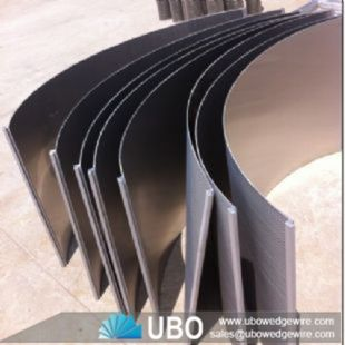 Wedge Wire DSM Sieve Bend Curved Screens Panel For Dewatering Applications
