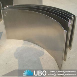 SS 304  DSM wedge wire sieve bend screen panel