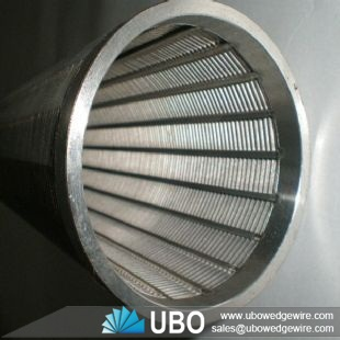 SS304 all welded wedge wire wrapped screen pipe of oil filtration