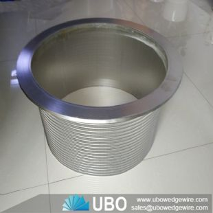 Wedge wrapped wire screen cylinder basket