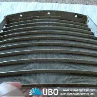 stainless steel vee wire sieve bend screen for coal dewatering