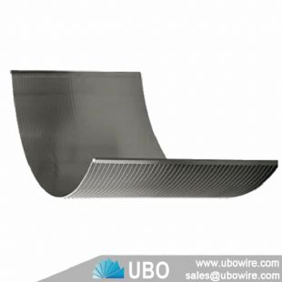 Wedge wire parabolic curved screen panel