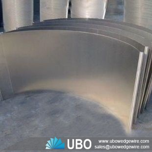 stainless steel wedge wire sieve bend screens for food processing