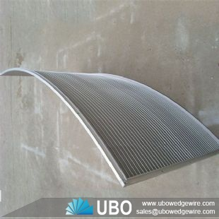 Stainless steel V shaped slot sieve bend