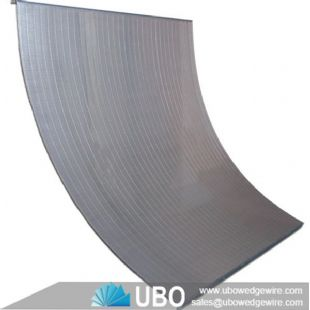 wedge V wire cross flow sieve bend screen