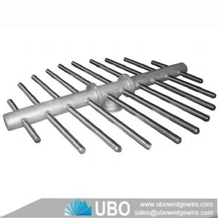 stainless steel wedge wire air sparge header assemblies