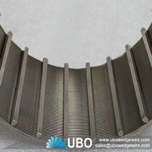 wedge wire strainer for liquid filtration