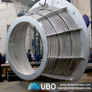 Stainless steel wedge wire conical centrifuge basket for fiber