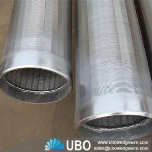 stainless steel reversed rolled slot wire wrap screen manufacturer