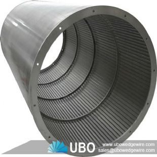 wedge wire cylinder screen basket for filtration