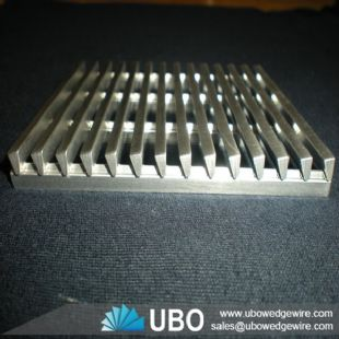 Johnson wedge v wire screen plate for filtration