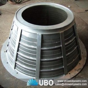 wedge wire Johnson screen for conical basket