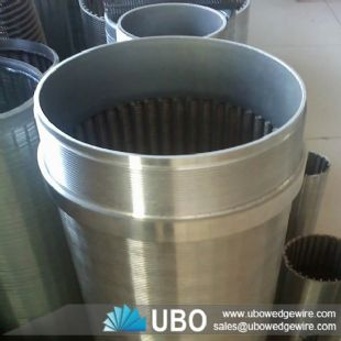 Wedge wire screen cylinder of filtration