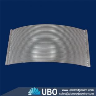 stainless steel wire wrap cross flow sieve bend screen