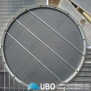 Flat wedge wire screen panel for beer breweries