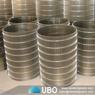 welded wedge wire cylinder screen for industry