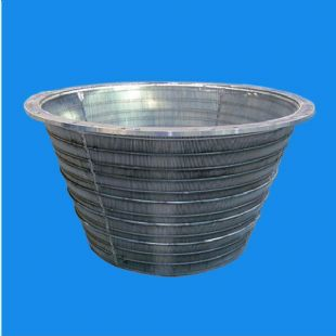 SUS316L industrial centrifuge basket for material