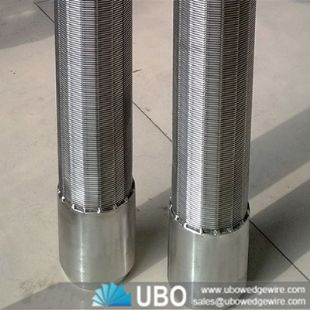 Stainless steel wedge wire screen sand control screen pipe for ground water