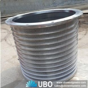 Stainless steel wedge wire screen basket for paper & paper machine