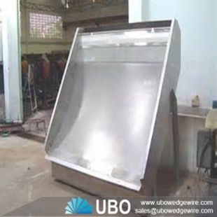 Slot well sieve bend screen panel for food processing