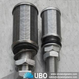 Sintered filter for water treatment filter nozzles