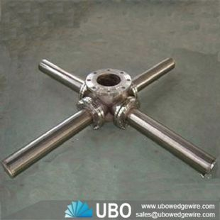 Wedge wire resin Refine header hub laterals