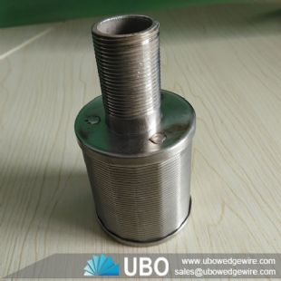 SS wedge wire single filter nozzle for industry filtration