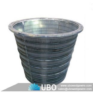 Wedge wire screen basket for coal filtration